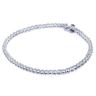 Annello Sterling Silver 1/2ct TDW Round Diamond Bracelet (H-I, I1-I2)