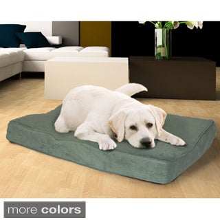 Furhaven Terry and Suede Deluxe Orthopedic Pet Bed
