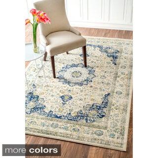 nuLOOM Traditional Persian Vintage Blue Rug (7'10 x 10'10)