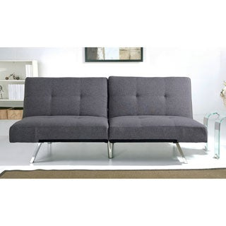 ABBYSON LIVING Aspen Grey Fabric Foldable Futon Sleeper Sofa Bed
