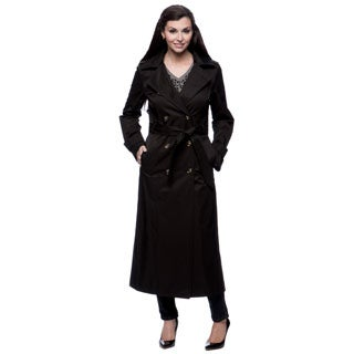 London Fog Women's Belted Trench with Hood
