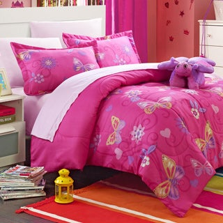 Chic Home Rosie Butterfly 8-piece Bed in a Bag with Sheet Set