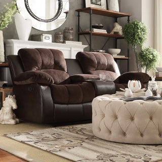 TRIBECCA HOME Coleford Double Reclining Loveseat with Storage Console
