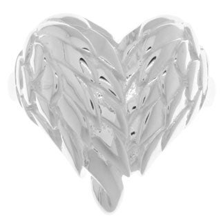 Carolina Glamour Collection Sterling Silver Angel Wing Heart Ring