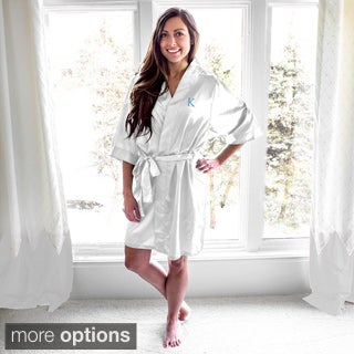 Personalized White Satin Robe