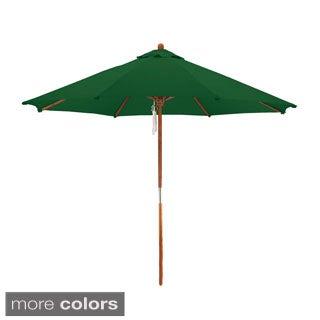 Somette 9 Foot Wood Frame Market Umbrella