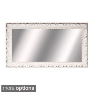 American Made Rayne Extra Large French Victorian White Wall Mirror