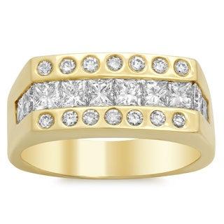 14k Gold Men's 2 5/8 ct TDW Diamond Ring (E-F, SI1-SI2)