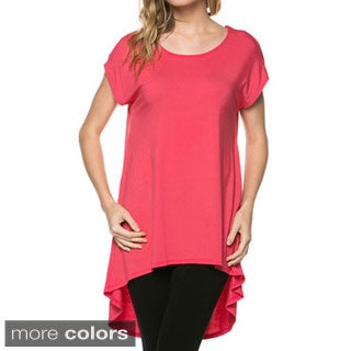 Tabeez Women's High-low Cap Sleeve Tunic