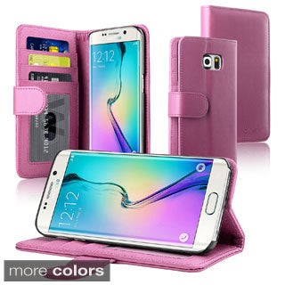 Insten Leather Phone Case with Stand/ Wallet Flap Pouch for Samsung Galaxy S6 Edge