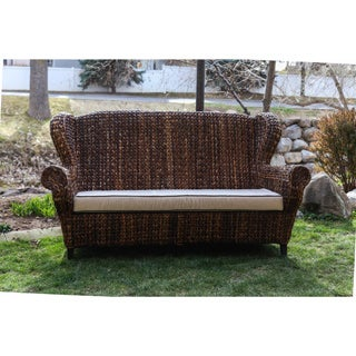 Somette Rattan Indoor/ Outdoor Rolled Arm 3-seat Sofa (Philippines)
