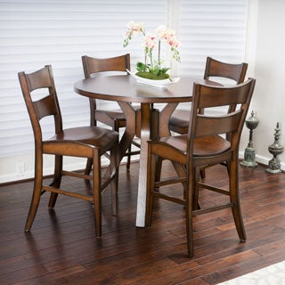 Christopher Knight Home Tehama 5-piece Round Counter Height Wood Dining Set