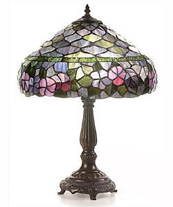 Tiffany-style Peony Table Lamp
