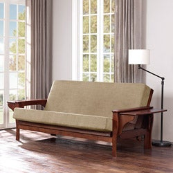 All Wood Futon Set with Table Arm and Camel Mattress