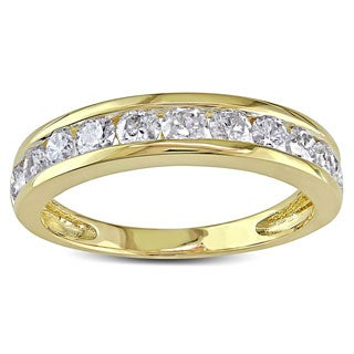 Miadora 14k Gold 1ct TDW Diamond Anniversary Band (H-I, I2-I3)