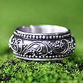 Sterling Silver 'Rain Forest Ferns' Ring (Indonesia)