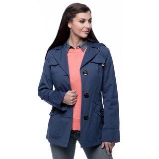 Ellen Tracy Women's Belted Mini Trench Jacket