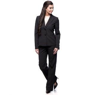 Le Suit 2-button Peak Collar Pinstripe Pant Suit