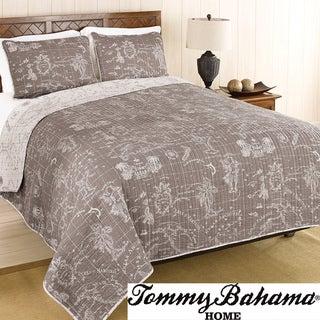 Tommy Bahama Map Print 3-piece Quilt Set