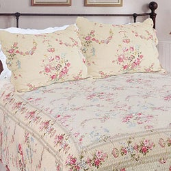 Rose Romance Full/ Queen-size 3-Piece Quilt Set
