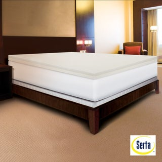 Serta Rejuvenator Dual-layer 4-inch Memory Foam Mattress Topper