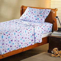 Expressions Microfiber Butterfly Children's Twin Sheet Set