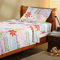 Expressions Microfiber Flower Children&#39;s Twin Sheet Set