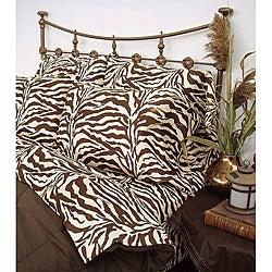 Wildlife 200 TC Brown Zebra King-size Sheet Set