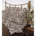 Scent Sation Wildlife Brown Zebra Queen-size Sheet Set