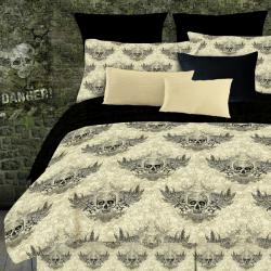 Street Revival Winged Skull Twin-size 6-Piece Bed in a Bag with Sheet Set