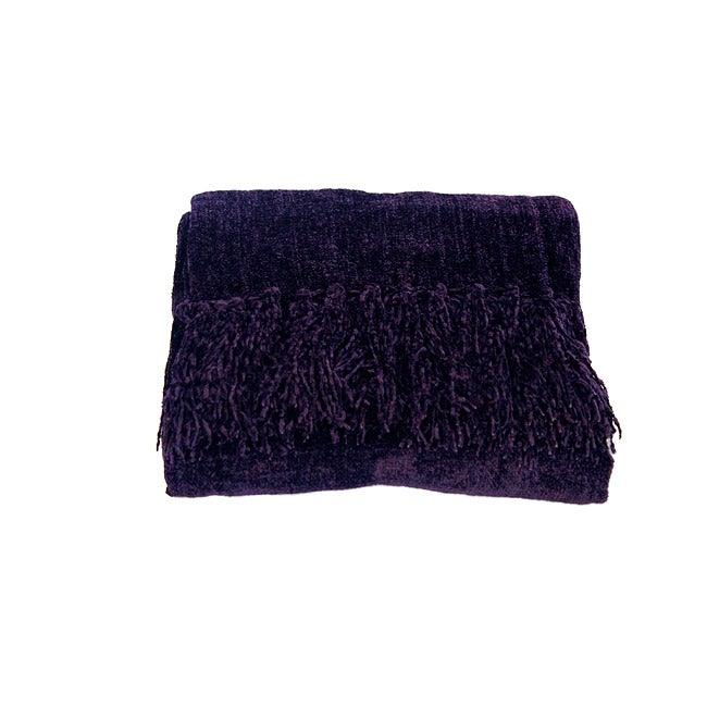 Susan Purple Chenille Luxury Throw