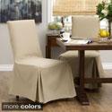 Cotton Duck Parsons Chair Slipcover Pair