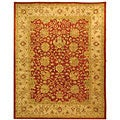 Handmade Antique Mashad Rust/ Ivory Wool Rug (8&#39;3 x 11&#39;)
