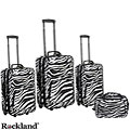 Rockland Deluxe Zebra 4-piece Expandable Luggage Set