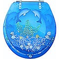 Trimmer Polyresin Decorative Dolphin Toilet Seat