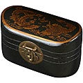 Black Leather Chinese Dragon Storage Box