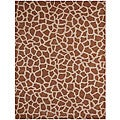 Hand-tufted Giraffe Beige Wool Rug (8&#39; x 10&#39;6)