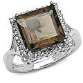 Malaika Sterling Silver Genuine Smokey Quartz Ring