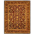 Handmade Exquisite Wine/ Gold Wool Rug (9&#39;6 x 13&#39;6)
