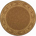 Safavieh Indoor/ Outdoor Summer Brown/ Natural Rug (6'7 Round)