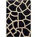Black Giraffe Print Rug (5&#39; x 8&#39;)