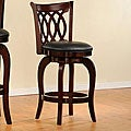 ETHAN HOME Verona Cherry Scroll-back Swivel 24-inch Counter Stool