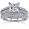 18k White Gold 2ct TDW EGL Diamond Bridal Set (I, SI1-SI3)