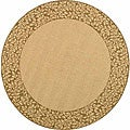 Indoor/ Outdoor Natural/ Brown Rug (5&#39;3 Round)