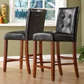 ETHAN HOME Hutton Faux Leather Counter Height Stool (Set of 2)