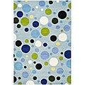 Safavieh Handmade Bubblegum Light Blue/ Multi N. Z. Wool Rug (5' x 8')