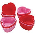 Wilton Silicone 'Mini Heart' Baking Cups (Pack of 12)