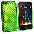 Eforcity Clear Green Diamond TPU Rubber Case for iPod Touch Gen 2/3