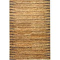 Hand-knotted All-Natural Fields Beige Hemp Rug (3&#39; x 5&#39;)