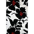Hand-tufted Alexa Pino Collection Floral Black Rug (7&#39;6 x 9&#39;6)